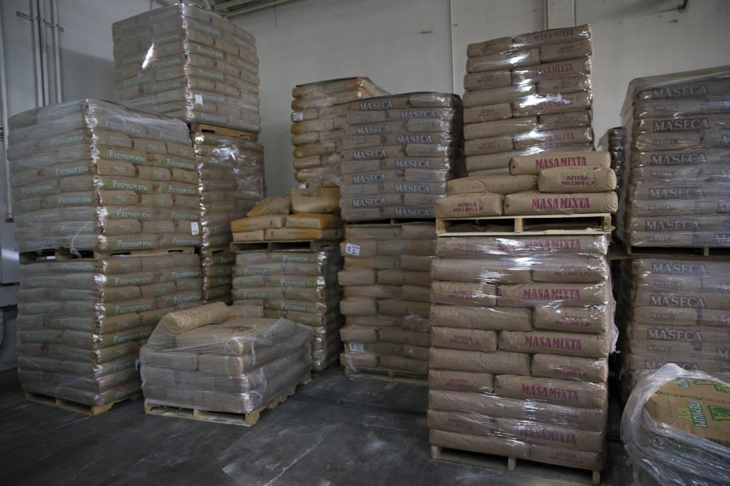 Bags of corn flour at the T.I. Foods warehouse on Tuesday, May 16, 2017, in North Las Vegas. Erik Verduzco Las Vegas Review-Journal @Erik_Verduzco