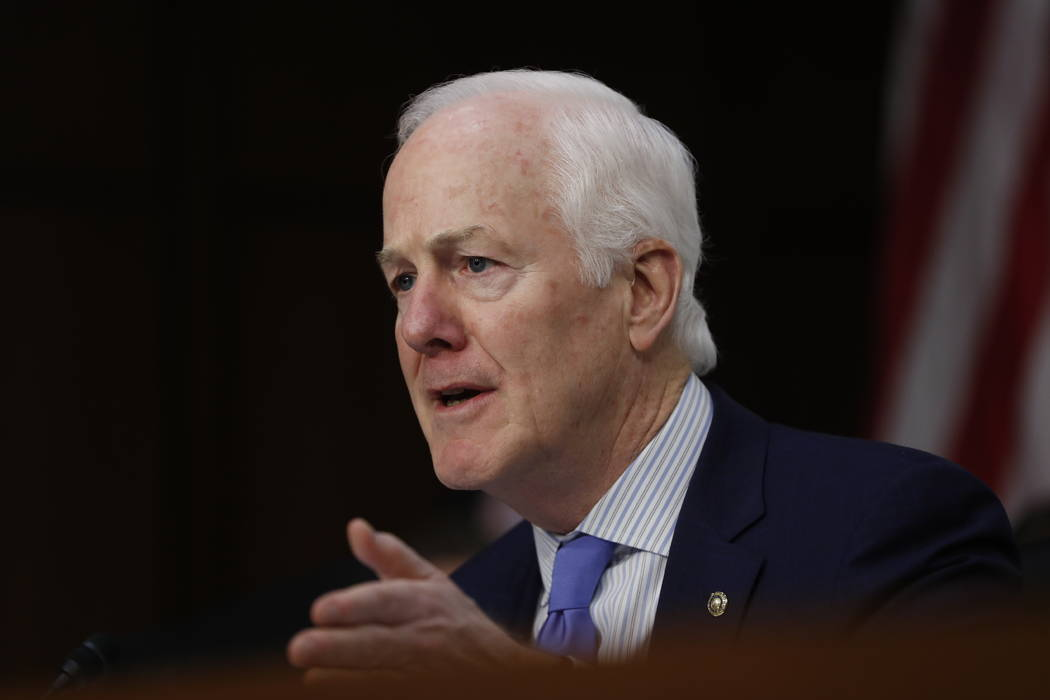 In this March 21, 2017, file photo, Senate Judiciary Committee member Sen. John Cornyn, R-Texas speaks on Capitol Hill in Washington. President Donald Trump is considering nearly a dozen candidate ...
