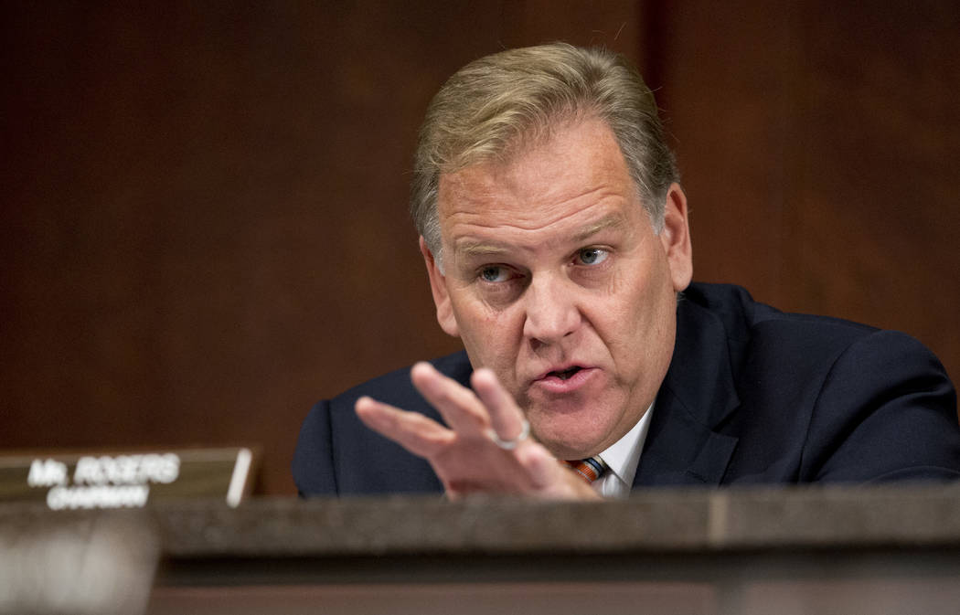 In this Sept. 18, 2014 file photo, House Permanent Select Committee on Intelligence Chairman Rep. Mike Rogers, R-Mich., questions witnesses during a full committee hearing on the threat posed by I ...