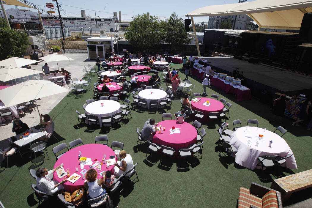 The Container Park's bottomless brunch for Mother's Day on Sunday, May 14, 2017, in Las Vegas. Rachel Aston Las Vegas Review-Journal @rookie__rae