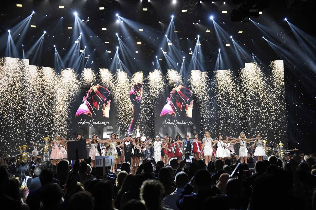 2017 Miss USA  – Las Vegas, Nevada, U.S., 14/05/2017 - Participants perform on stage. REUTERS/David Becker