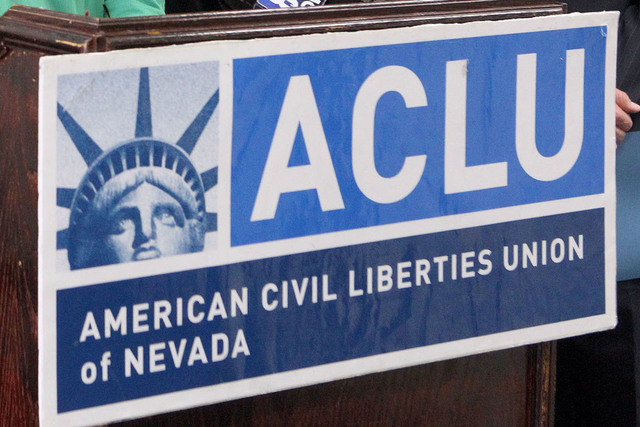 The America Civil Liberties Union of Nevada in Las Vegas, Wednesday, June 12, 2013. (Jerry Henkel/Las Vegas Review-Journal)