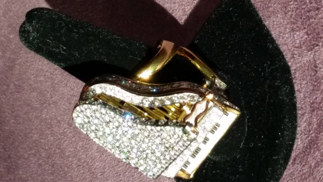 The piano ring was given to Liberace by Barron Hilton. (Liberace Foundation for the Performing and Creative Arts)