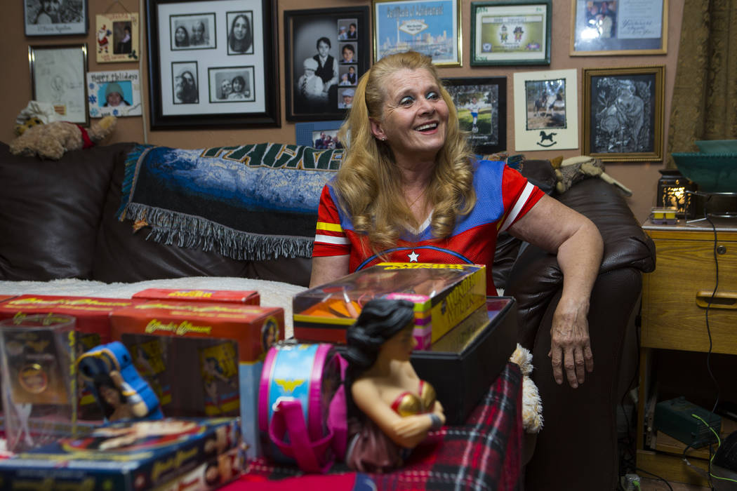 "Kim Renee, who was a stunt double for Lynda Carter in ""Wonder Woman,"" at her home in Las Vegas on Friday, May 26, 2017. Chase Stevens Las Vegas Review-Journal @csstevensphoto"