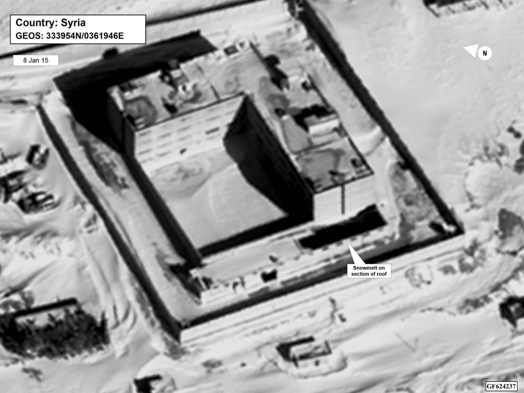 A Jan. 15, 2015, satellite image of what the State Department described as a building in a prison complex in Syria that was modified to support a crematorium. The Trump administration accused the  ...