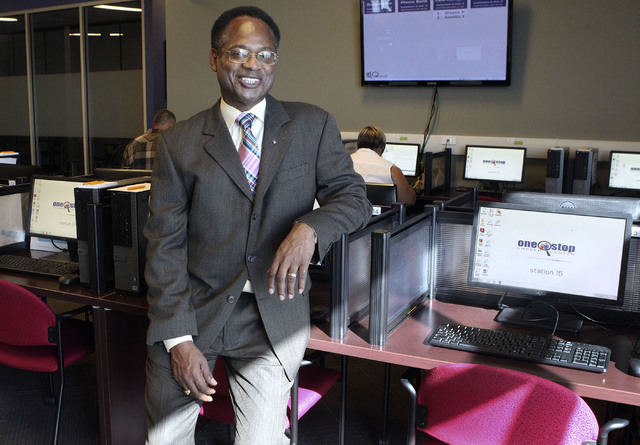 Ardell Galbreth, executive director of Workforce Connections, poses in the resource room of the business in Las Vegas, Friday, Oct. 11, 2013. (Jerry Henkel/Las Vegas Review-Journal)