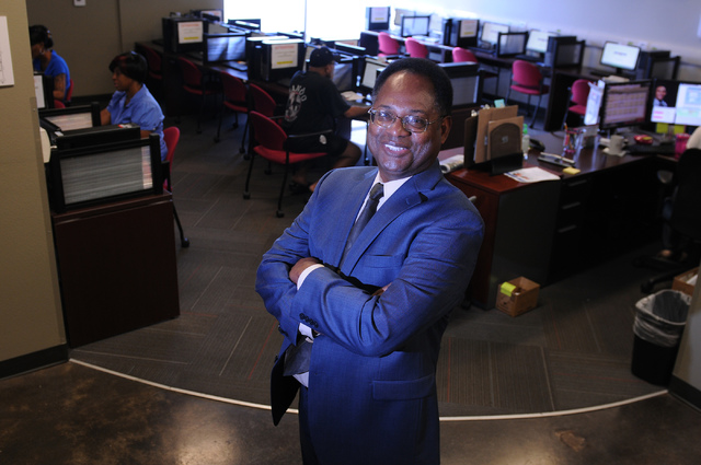 Ardell Galbreth, executive director of Workforce Connections, poses in the resource room of the business in Las Vegas. (Erik Verduzco/View)