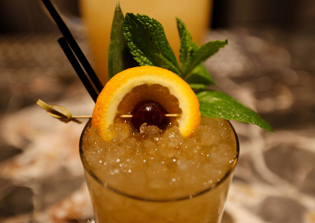 Summer Swizzle cocktail at Libertine Social in Mandalay Bay in Las Vegas, Thursday, May 4, 2017. Chitose Suzuki Las Vegas Review-Journal @chitosephoto