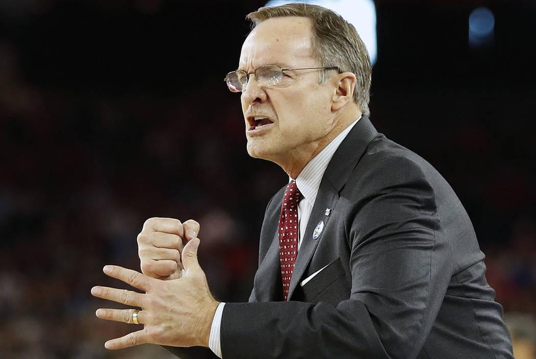 Oklahoma head coach Lon Kruger, seen in 2016. (AP Photo/Eric Gay)
