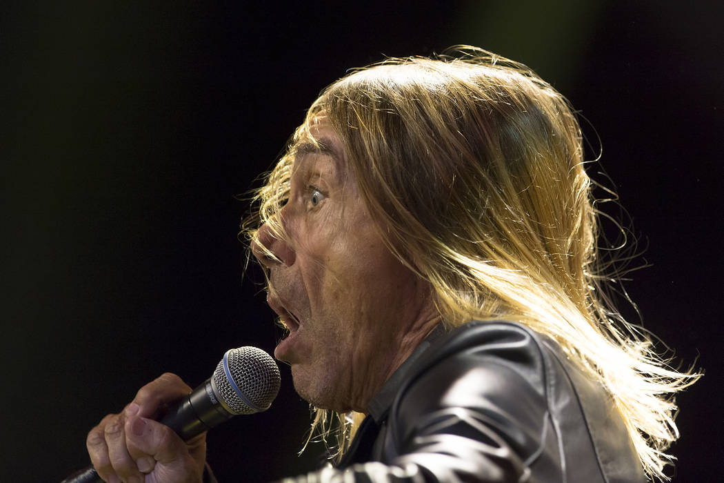 In this Oct. 24, 2015 picture US singer Iggy Pop performs on stage at the Baloise Session in Basel, Switzerland. (Georgios Kefalas/Keystone via AP)