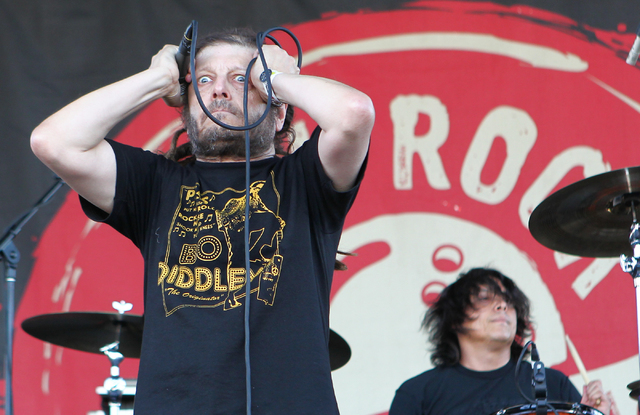 Keith Morris of OFF! performs at the Punk Rock Bowling music festival in downtown Las Vegas on Monday, May 26, 2014. (Chase Stevens/Las Vegas Review-Journal)