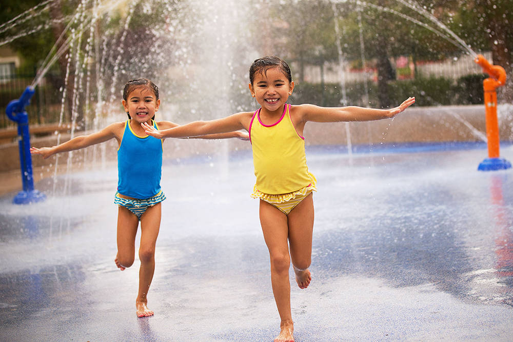 With multiple splash parks, a new private-access pool, day camp and more, outdoor fun abounds in the master-planned community of Southern Highlands this summer. (Southern Highlands)