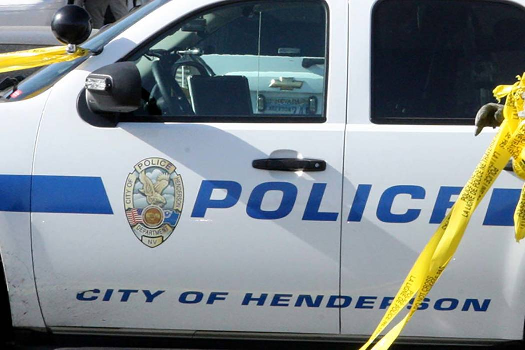 Henderson police are investigating after a body was found Tuesday morning in a desert area near a residential area of the city . (Michael Quine/Las Vegas Review-Journal)