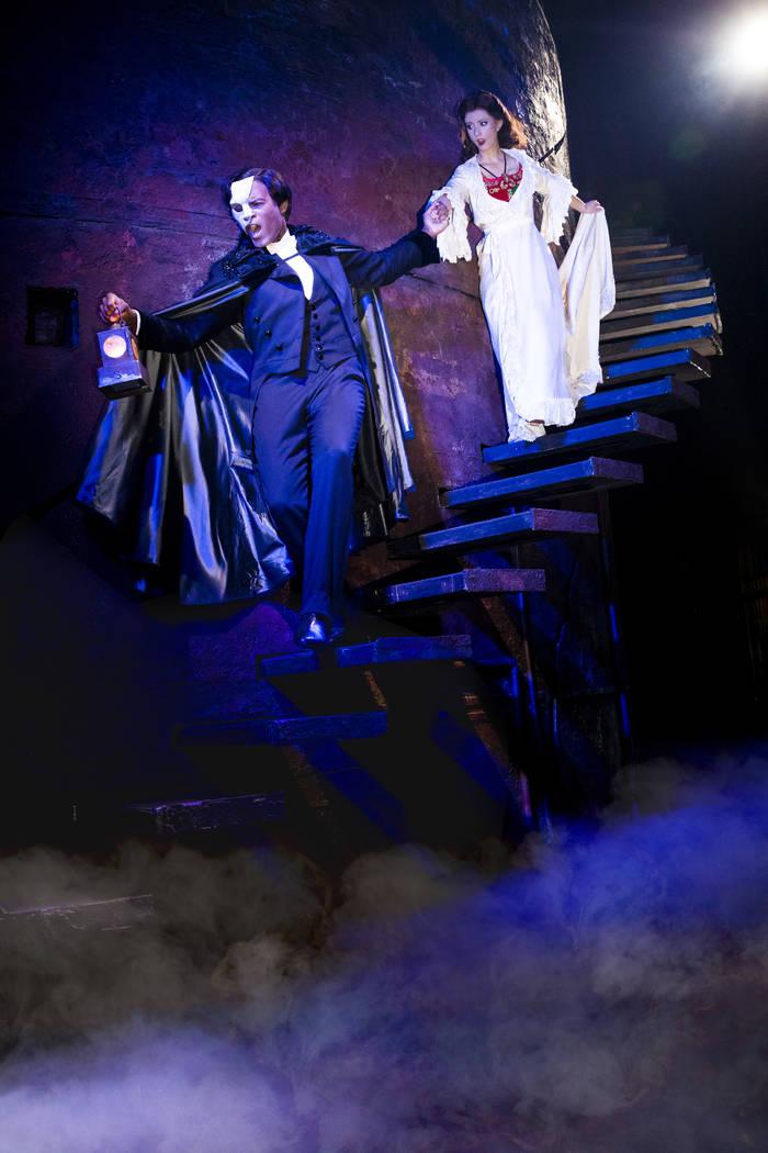 Derrick Davis and Katie Travis in The Phantom of the Opera. Matthew Murphy