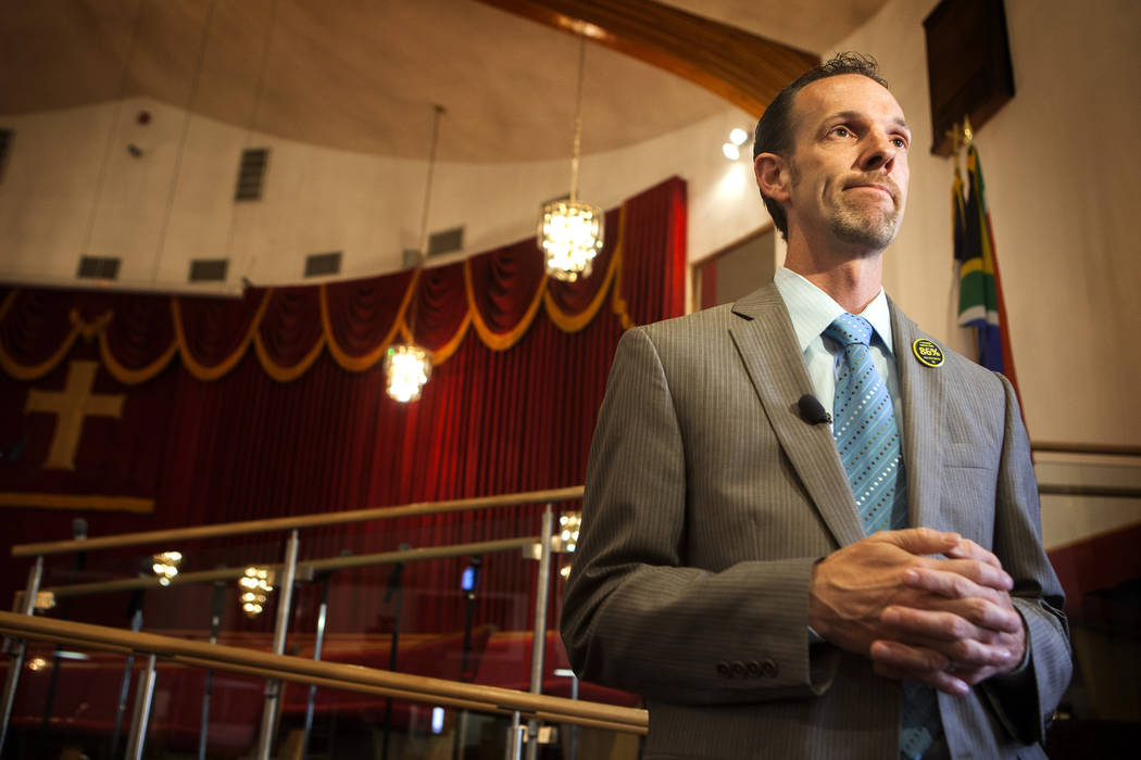 Sen. Justin Jones on Monday, Aug. 18, 2014. (Jeff Scheid/Las Vegas Review-Journal)