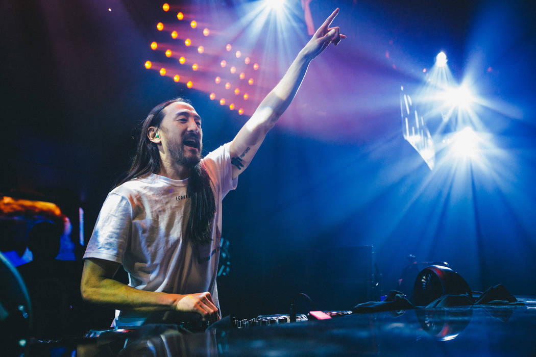 DJ Steve Aoki headlines Hakkasan at MGM Grand on Thursday, April 6, 2017, in Las Vegas. (Joe Janet)