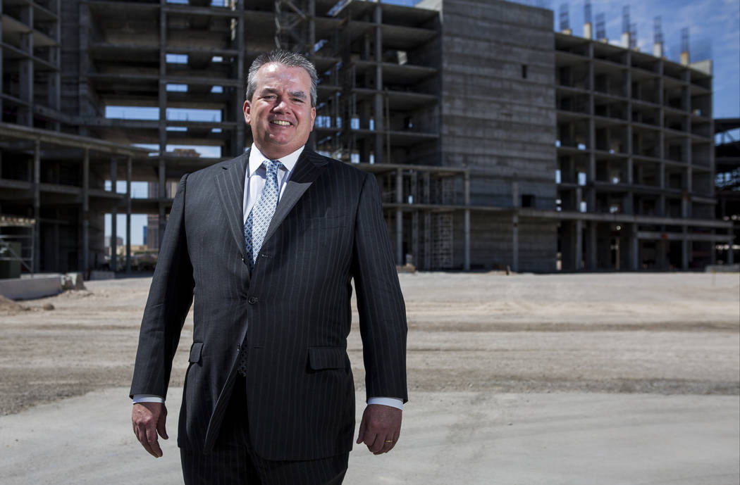 Edward Farrell, the newly appointed president of Resorts World Las Vegas, at the Resorts World construction site on the Las Vegas Strip on Wednesday, May 17, 2017. (Patrick Connolly Las Vegas Revi ...