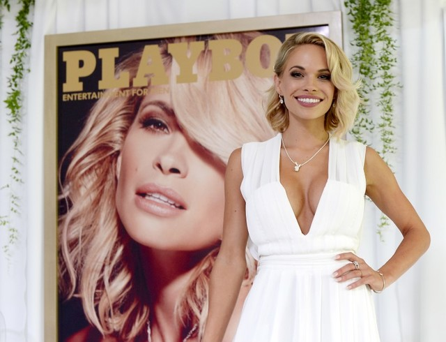 Dani Mathers at Playboy Mansion in Los Angeles, May 14, 2015. (Kevork Djansezian/Reuters)