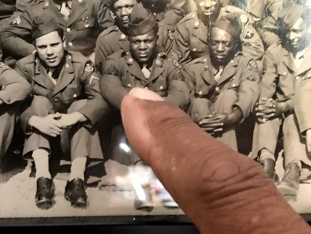 Vernice Gaar, a 1943 draftee from Ruston, Louisiana, served in the 129th Port Battalion, one of the first racially mixed units in World War II. Keith Rogers Las Vegas Review-Journal