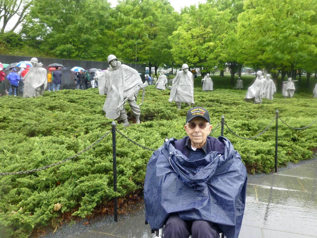 World War II Army veteran Frank Costa at the Korean War Veterans Memorial, May 22, 2017, in Washington, D.C. Tony Bonnici