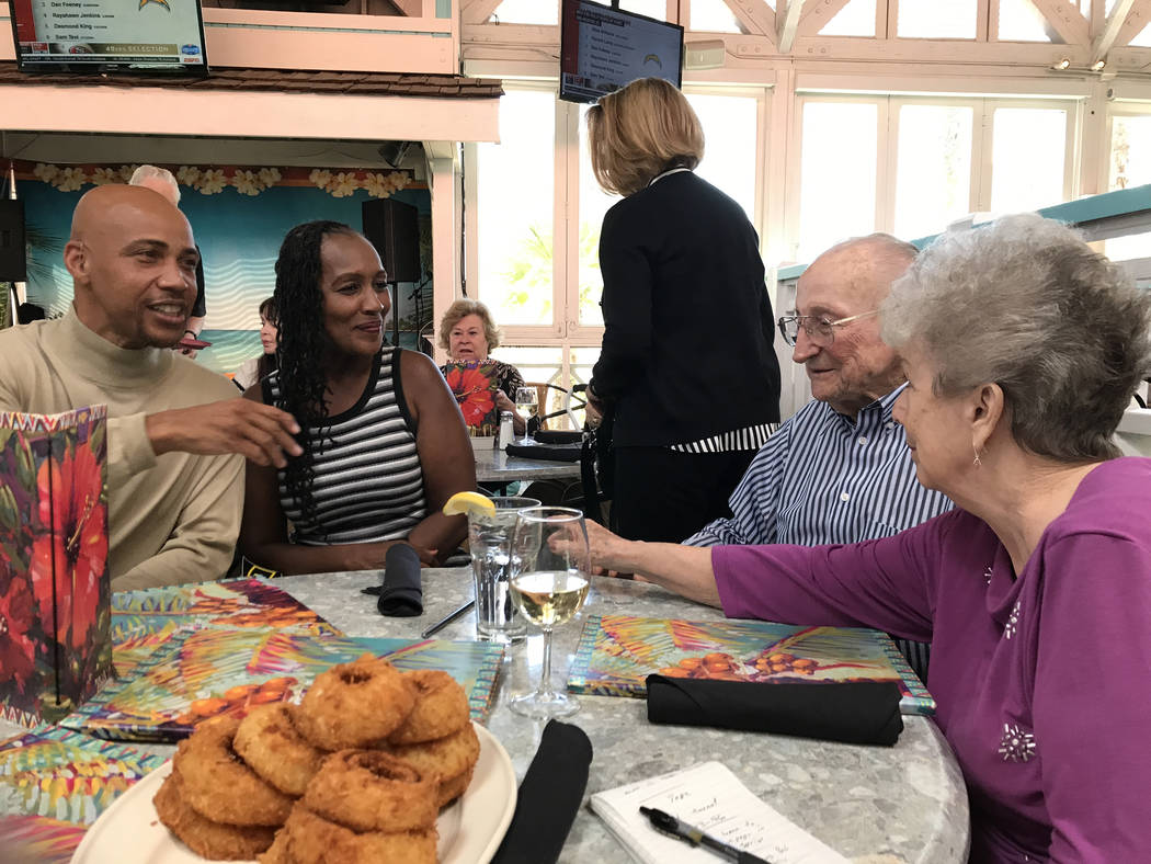 Army Ranger veteran Wendel Smith, left, with Carol Smith and Dale and JoAnn Burchfield at a U.S. Army Ranger Association luncheon, April 29, 2017, in Las Vegas. Keith Rogers Las Vegas Review-Journal