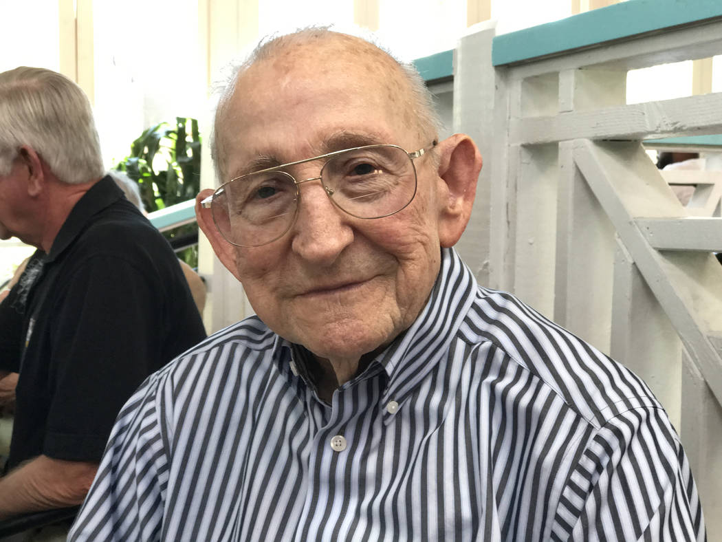 Dale Burchfield, 93, of Mesquite, served in the 5th Ranger Battalion during World War II and trained in Scotland with the U.S. Army commando unit known as Darby's Rangers. Keith Rogers Las Vegas R ...