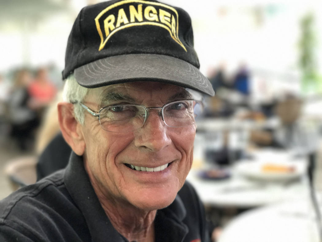 Army Ranger veteran Tom Evans served in the 9th Infantry Division, 1st Aviation Brigade during the Vietnam War. Keith Rogers Las Vegas Review-Journal