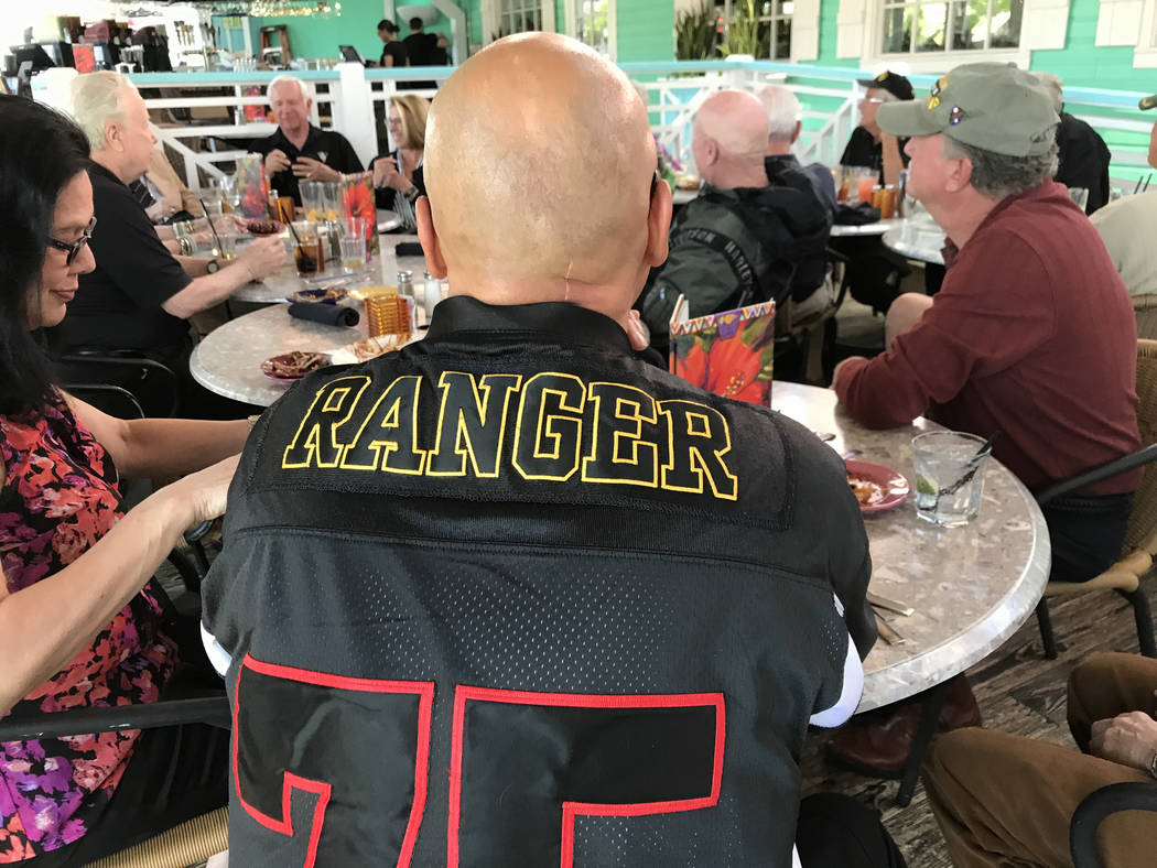 Ranger veteran Phillip Holguin, of the 75th Ranger Regiment, at a U.S. Army Ranger Association luncheon, April 29, 2017, in Las Vegas. Keith Rogers Las Vegas Review-Journal