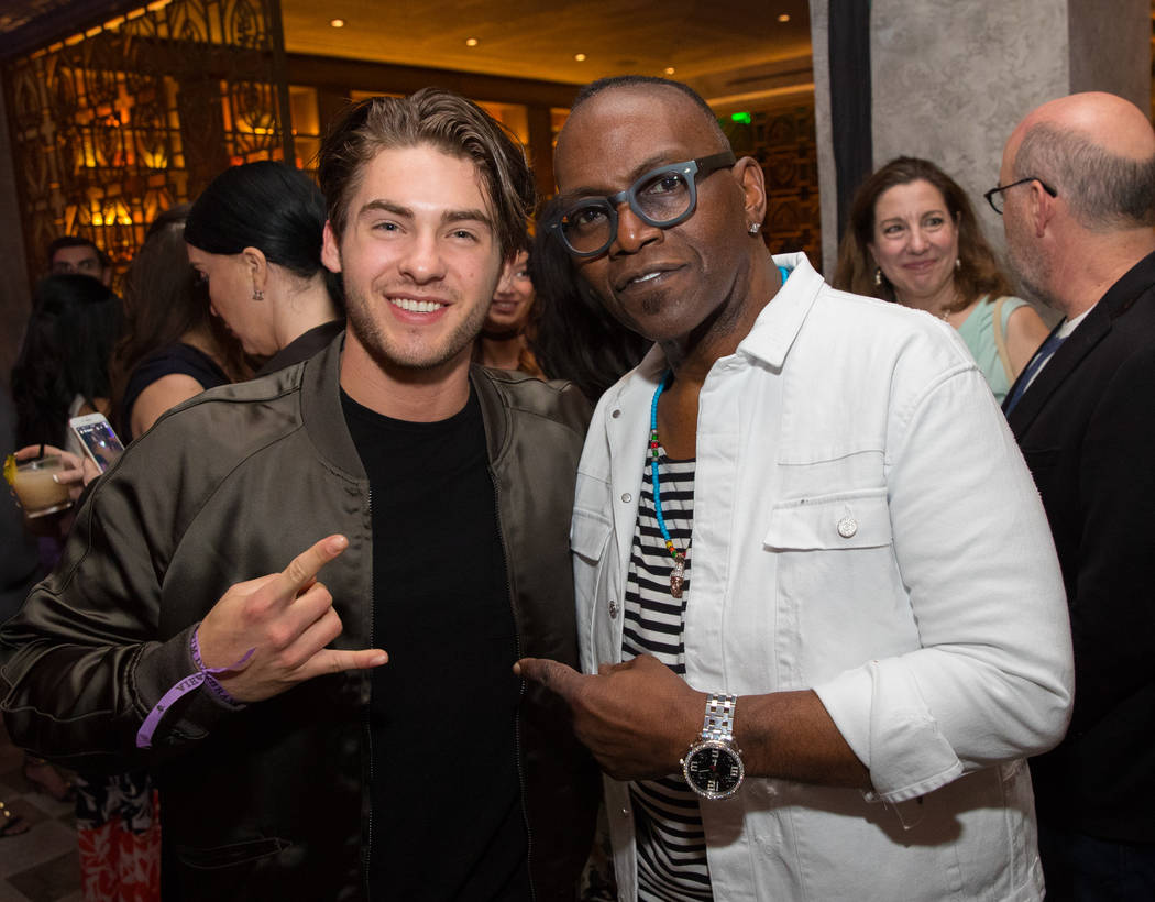 Cody Christian and Randy Jackson attend the grand-opening party for Chica at The Venetian on Friday, May 12, 2017, in Las Vegas. (Erik Kabik)