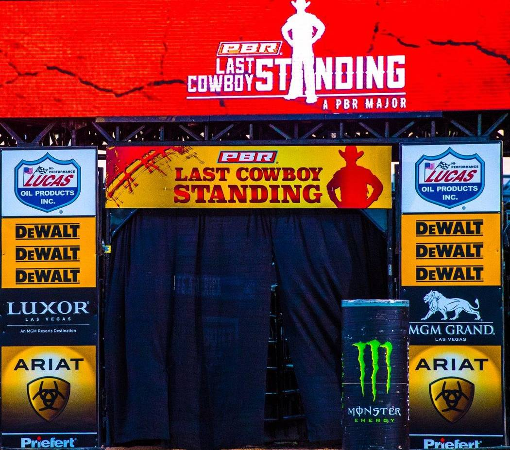 "PBR's ""Last Cowboy Standing"" on Friday, May 12, 2017, at Las Vegas Village. (Tom Donoghue)"