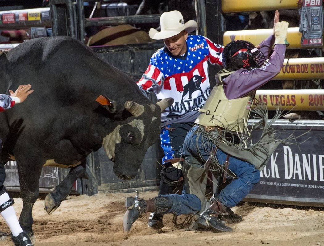 "PBR's ""Last Cowboy Standing"" on Saturday, May 13, 2017, at Las Vegas Village. (Tom Donoghue)"