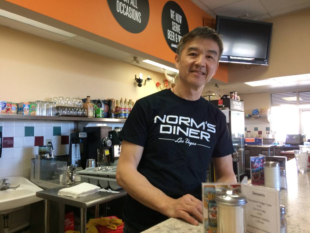 Norm Chan talks March 28, 2017, about growing his diner, Eggs And, into a successful business until his landlord doubled his rent. He moved it to 3945 S. Durango Drive and renamed it Norm's Diner. ...