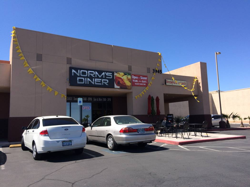 The exterior of Norm's Diner, 3945 S. Durango Drive, is seem March 28, 2017. Owner Norm Chan comes from a restaurant family and he began helping out at age 13. He worked at the Westgate back whe ...