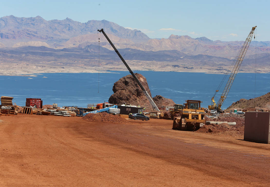 The construction site of I-11, near Lake Mead during a media tour on Friday, May 19, 2017, in Boulder City. Construction of the first 15 miles of I-11, which will link Las Vegas to Phoenix is maki ...