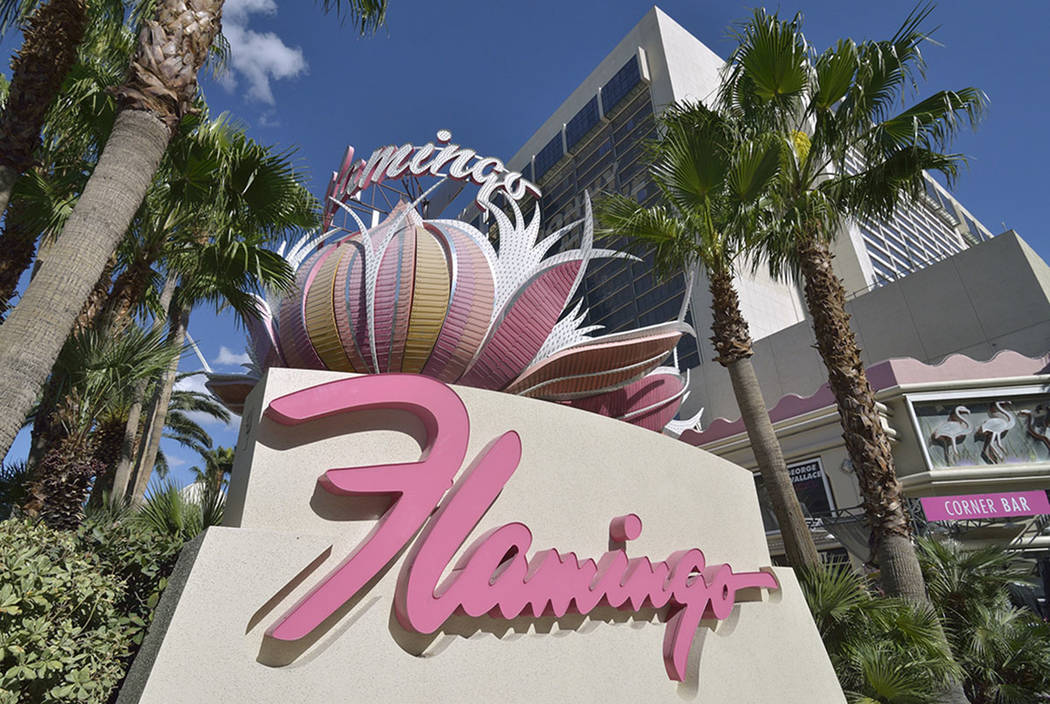 The Flamingo hotel-casino at 3555 Las Vegas Blvd., South, in Las Vegas, seen in 2013  (Bill Hughes/Las Vegas Review-Journal)