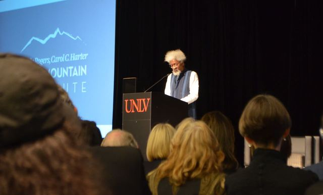 Wole Soyinka speaks at the Black Mountain Institute's 10th Anniversary Nov. 21 at UNLV, 4505 S. Maryland Parkway. The event also featured Cheryl Strayed, Charles Bock, Tom Bissell, Olivia Clare an ...