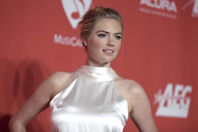 Kate Upton arrives at The MusiCares Person of the Year tribute honoring Tom Petty on Friday, Feb. 10, 2017, at Los Angeles Convention Center. (Richard Shotwell/Invision/AP)