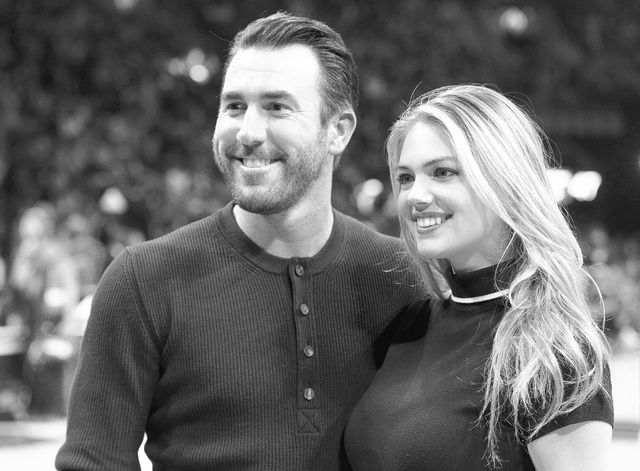 Detroit Tigers pitcher Justin Verlander and model Kate Upton at halftime at The NBA All-Star Game on Sunday, Feb. 14, 2016, in Toronto. Upton announced her engagement to Verlander. The 23-year-old ...