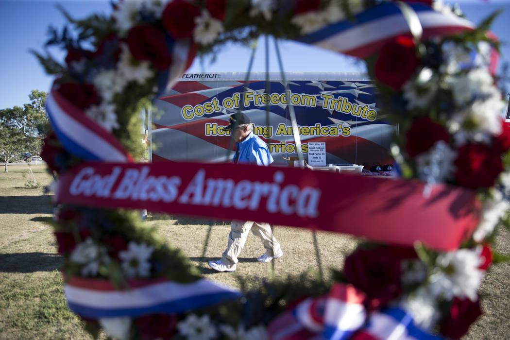 Craig Ranch Park where the replica of the Vietnam Veterans Memorial Wall is displayed by the American Veterans Traveling Tribute on Friday, May 19, 2017 in North Las Vegas. Erik Verduzco/Las Vegas ...