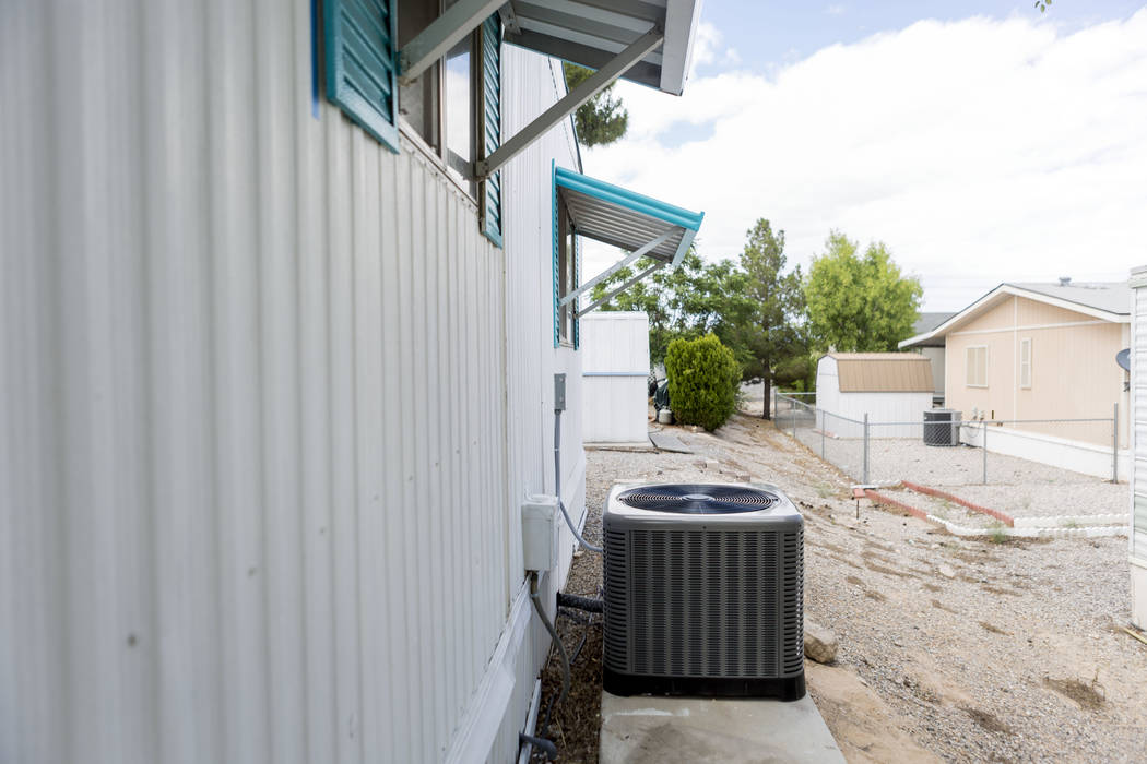 Weatherization Assistance Program through HELP of Southern Nevada recently put in a cooling unit for a home in Las Vegas Thursday, May 19, 2017. Elizabeth Brumley Las Vegas Review-Journal