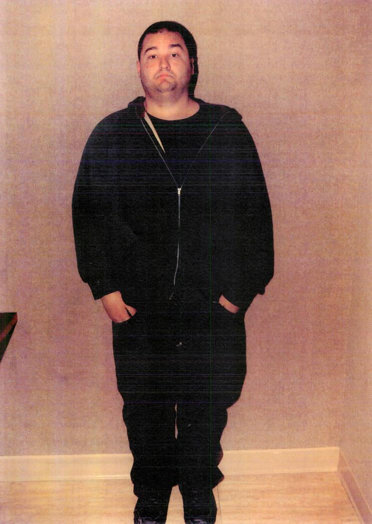 Photo of Schindler taken by police (Las Vegas Metropolitan Police Department)