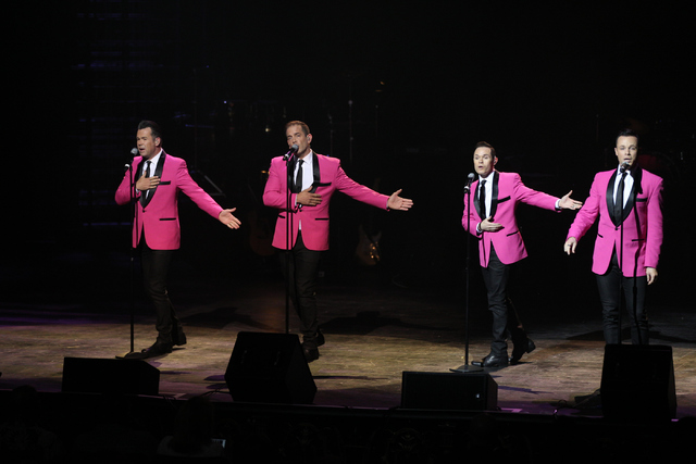 The Venetian headliners Human Nature performs during the 2016 Best of Las Vegas Awards at The Venetian on Saturday, Nov. 5, 2016, in Las Vegas. (Erik Verduzco/Las Vegas Review-Journal)