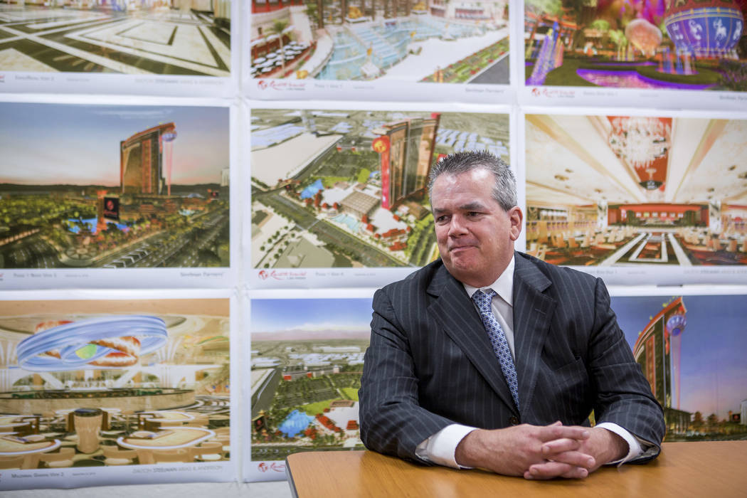 Edward Farrell, the newly appointed president of Resorts World Las Vegas, during an interview with the Review-Journal at the Resorts World construction site on the Las Vegas Strip on Wednesday, Ma ...
