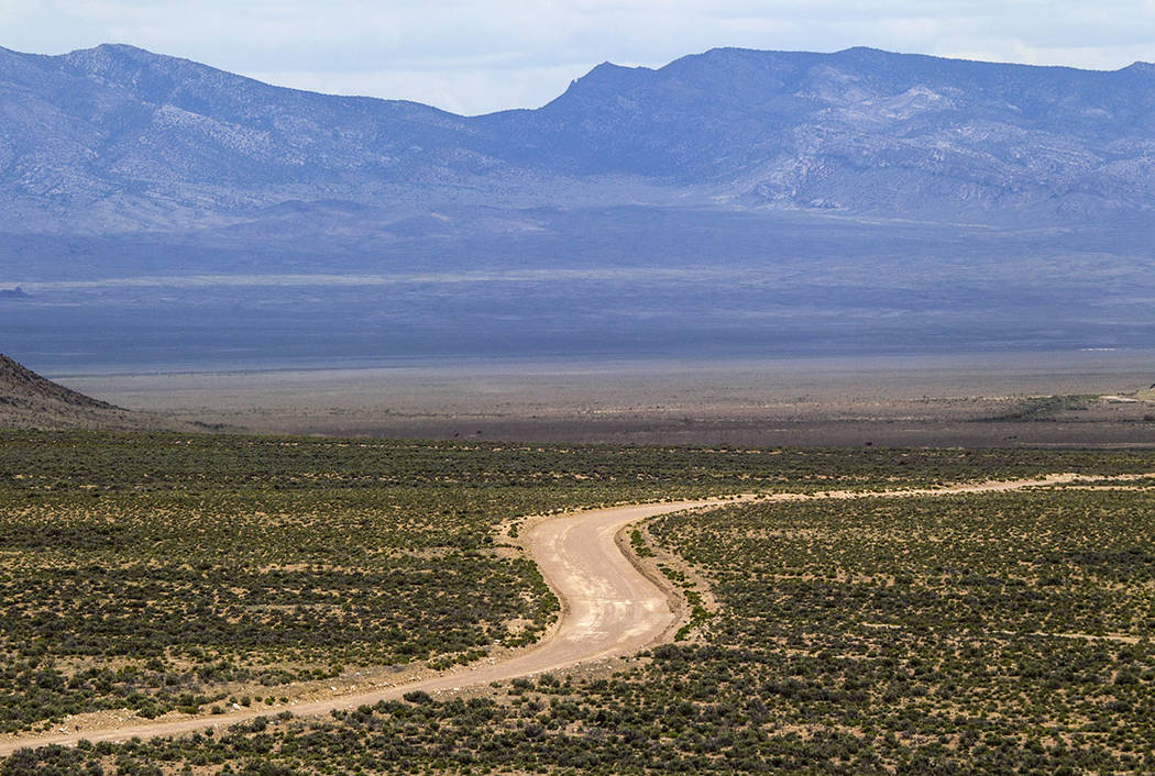A road is seen in 2015 in Coal Valley at Basin and Range National Monument. (Las Vegas Review-Journal)