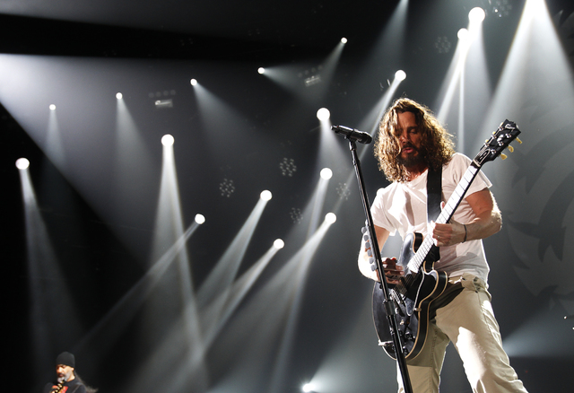 Chris Cornell of Soundgarden performs with the band at The Joint at the Hard Rock casino in Las Vegas, Saturday, July 23, 2011. (John Locher/Las Vegas Review-Journal)