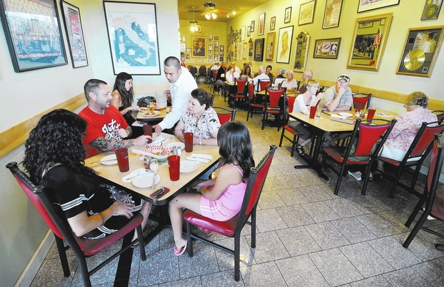 The interior of Montesano's Eateria at 9905 S. Eastern Ave. in Las Vegas is shown on Friday, July 19, 2013. (Bill Hughes/Las Vegas Review-Journal)