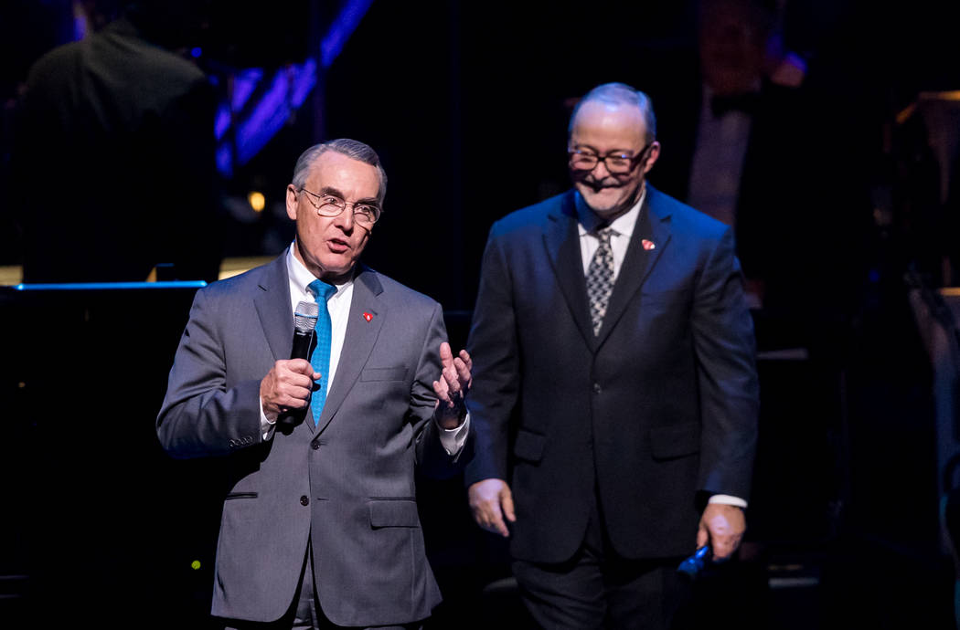 The fifth-anniversary celebration of The Smith Center for the Performing Arts on Tuesday, March 7, 2017, in Downtown Las Vegas. Don Snyder and Myron Martin are pictured here. (Erik Kabik)