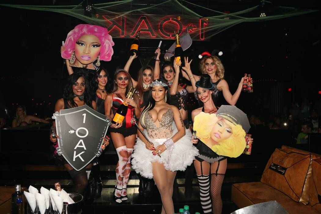 Nicki Minaj hosts Halloween at 1 OAK at The Mirage on Friday, Oct. 30, 2015, in Las Vegas. (Alex Loucas)