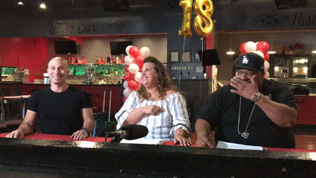 From left to right, Are-You-It judges local magician Seth Grabel, president and founder Kiki Dolas and talent scout Mike Robinson at a recent competition at Rendezvous Wine and Dine, 2605 S. Decat ...