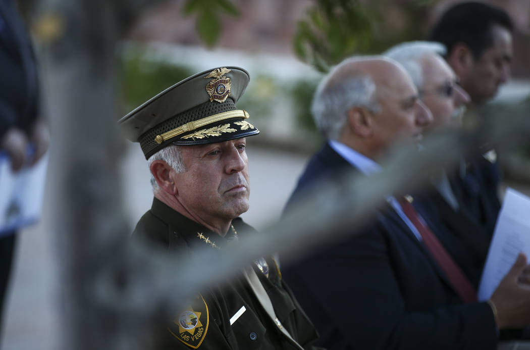 Clark County Sheriff Joe Lombardo during the annual Southern Nevada Law Enforcement Memorial at Police Memorial Park in Las Vegas on Thursday, May 18, 2017. The year's multi-agency ceremony added  ...